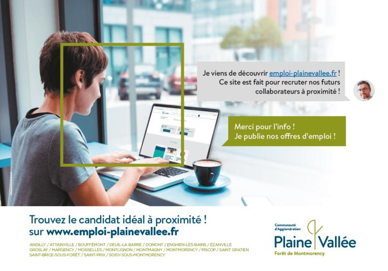 La plateforme digitale«Emploi Plaine Vallée»recense toutes les offres d'emploi, de stages et de formations locales.Ce service destiné...