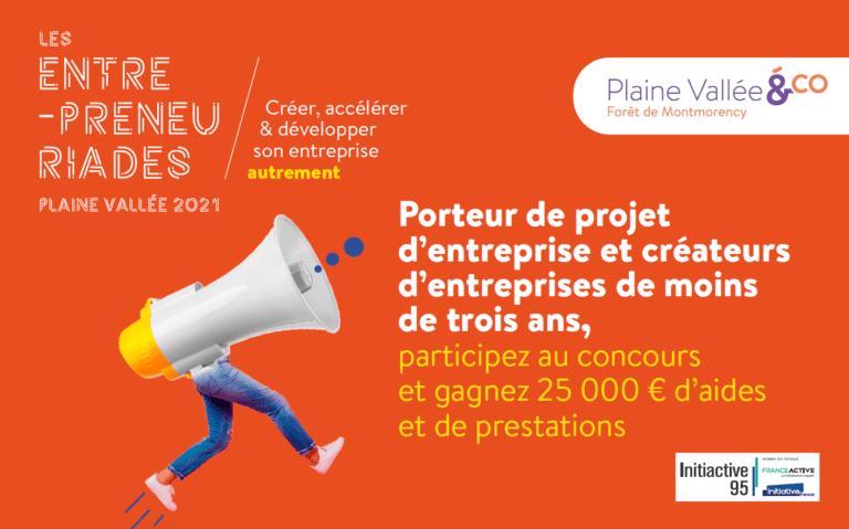 Plaine Vallée lance en partenariat avec Initiactive95 la première édition des Entrepreneuriades, un concours doté de 25...